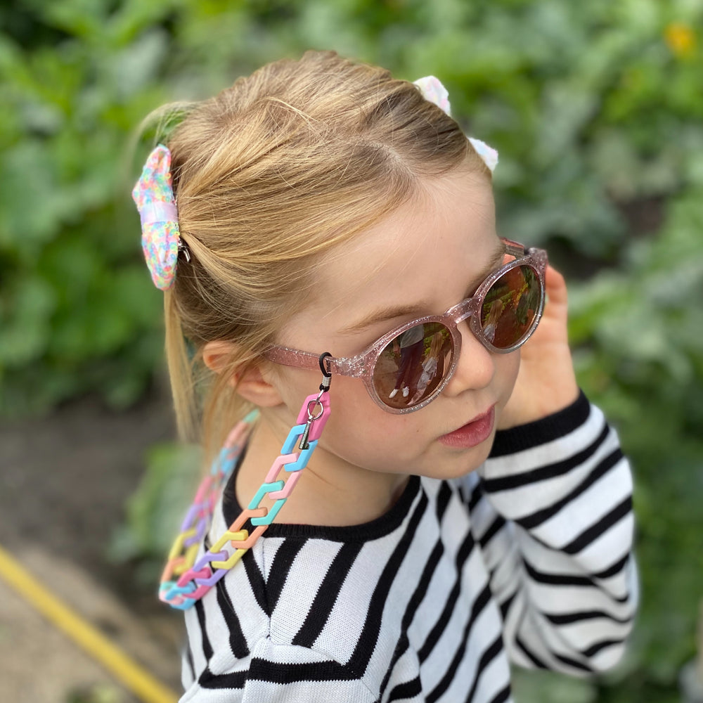 Vivienne kids glasses chain in matt multi color