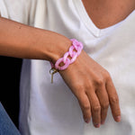 Nini bracelet in transparent pink