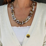 Anne Necklace in beige/brown