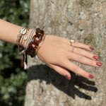 Chantelle bracelet in brown transparent leopard