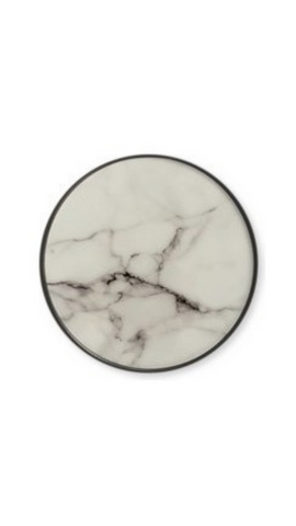 White Marble Phone Grip - Ella Fayth