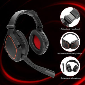 New game headset for PS4/Nintendo/Switch/PC Deep Bass Gamer headphone USB wireless gaming headset USB 7.1 virtual surround sound