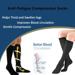 Miracle Socks Anti-Fatigue Compression Socks Black