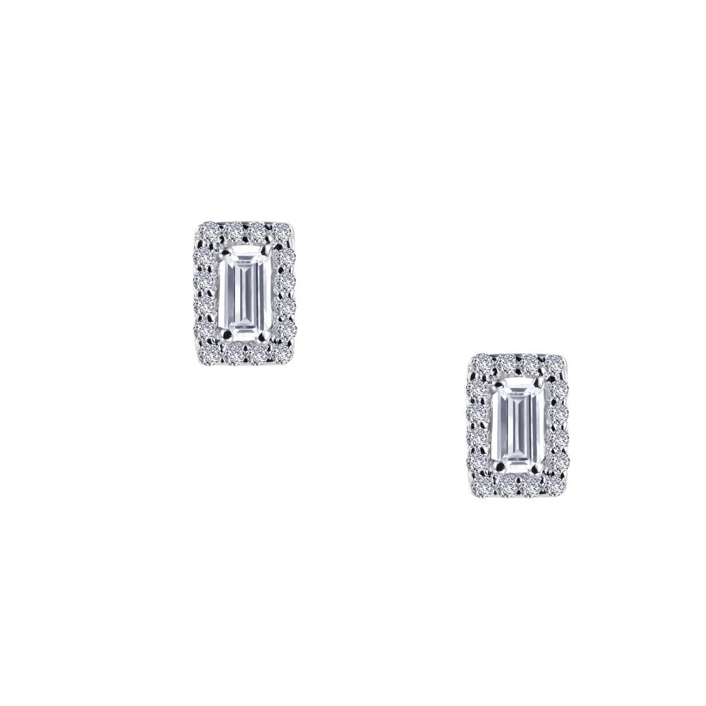 0.52 ct tw Halo Stud Earrings