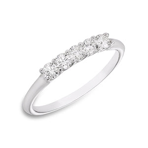 14kt White Gold 1/2ct Diamond Wedding Band