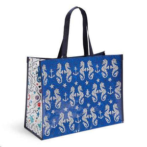 Market Tote in Seahorse of Course