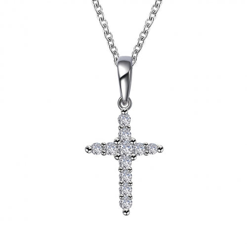 0.33 ct tw Cross Pendant Necklace