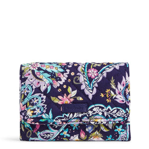 RFID Riley Compact Wallet in French Paisley