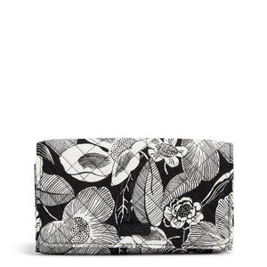 RFID Trifold Clutch Wallet in Bedford blooms