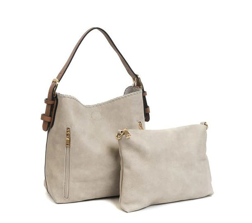 Alexa Hobo Tote in Light Gray