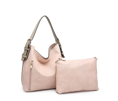 Alexa Hobo Tote in Light Pink