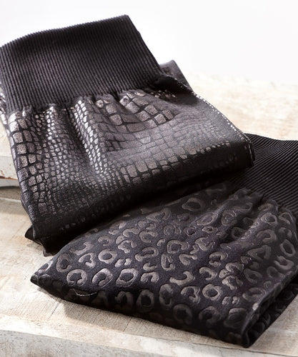 Fleece Lined Self Embossed Leggings