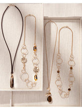 Load image into Gallery viewer, Brown and Gold Long Necklaces