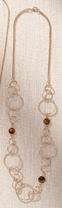 Brown and Gold Long Necklaces