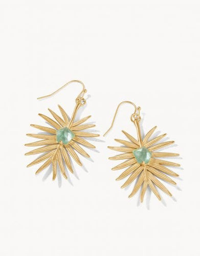 Palm Earrings Aqua Pearlescent