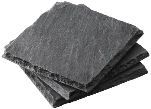 Square Slate Coasters - 4pc