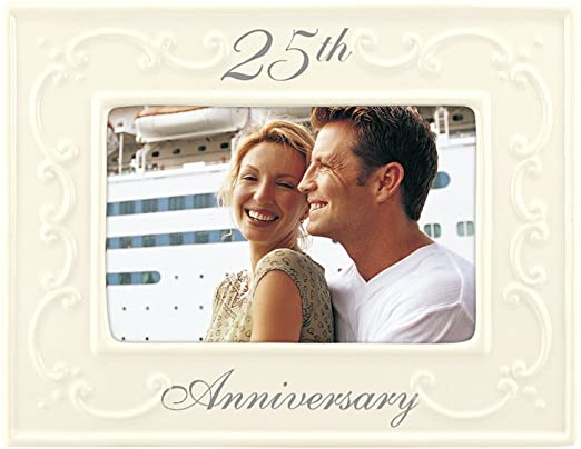 White 25th Anniversary Frame