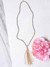 Load image into Gallery viewer, Shining Crystal tassel Necklace