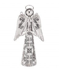 Silver Praying Angel Bell 6""