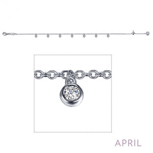 April Birthstone Bracelet