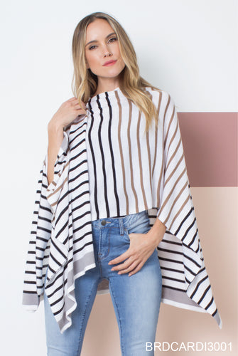Striped Bordeaux Cardi Wrap