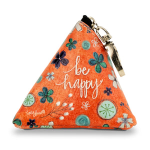 """Be Happy"" Small Triangle Bag"