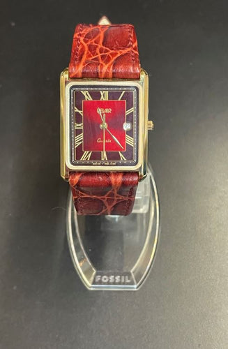 Belair Red Leather Quartz Watch