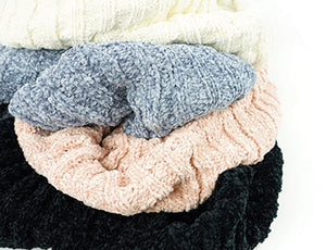 Beyond Soft Chenille Infinity Scarf, 2 Asst