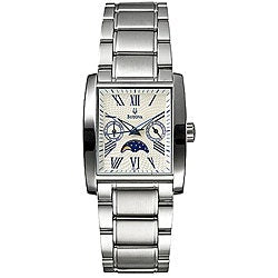 Men's Moon Phase Stainless Steel Quartz Watch