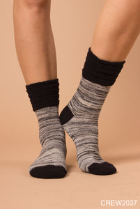 Ruffle Crew Socks -  Asst Colors