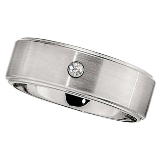 Dura Cobalt Diamond Band with Steel Bezel