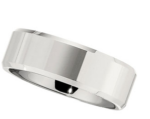 8.0mm Polished Beveled Dura Cobalt Band