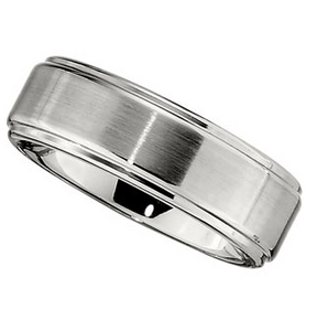 8.0mm Dura Cobalt Band with Satin Finish and Ridges