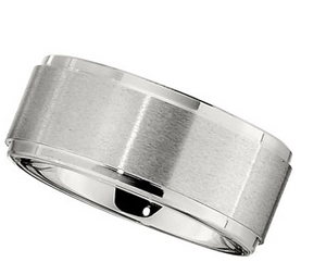 10.0mm Dura Cobalt Band with Satin Finish and Ridges