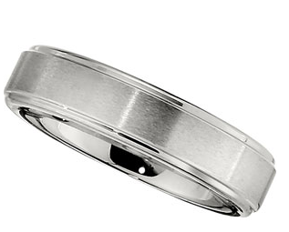 6.0mm Dura Cobalt Band with Satin Finish and Ridges