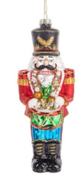 Glass Nutcracker Ornament