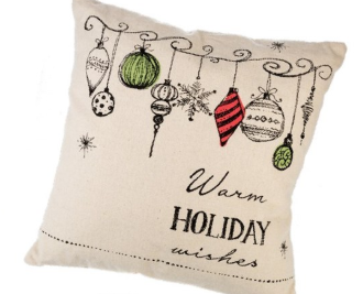 Warm Holiday Wishes Pillow