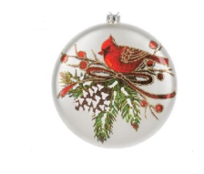 Glass Cardinal Ornaments