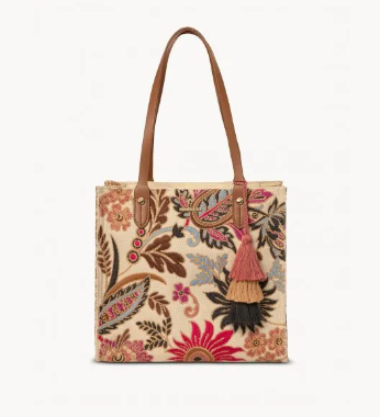 Barbee Floral Box Tote