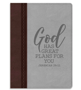 Great Plans Faux Leather Pocket-Sized Journal