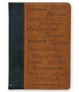 Names of Jesus Faux Leather Pocket-Sized Journal