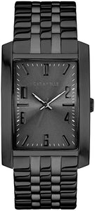 Men's Black Ion-Plated Stainless Steel Watch - 45A140