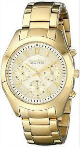 New York Women's 44L118 Gold-Tone Stainless Steel Watch