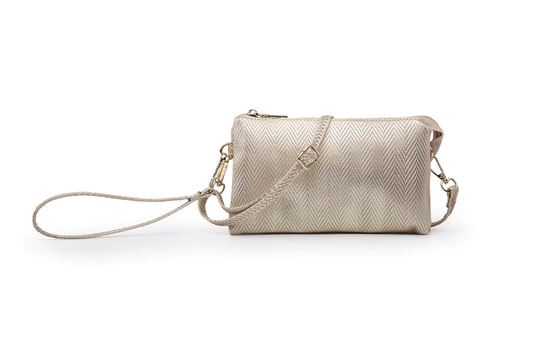 Riley Crossbody/Wristlet in Champagne