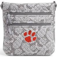 Clemson Gray/White Iconic Triple Zip Hipster