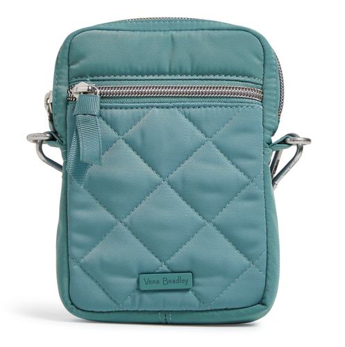 Performance Twill RFID Convertible Small Crossbody in Blue Oar