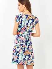 Load image into Gallery viewer, Coral Print Wrap Dress