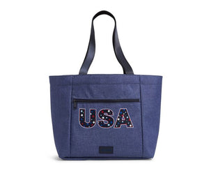 Dark Blue Heather ReActive Drawstring Family Tote