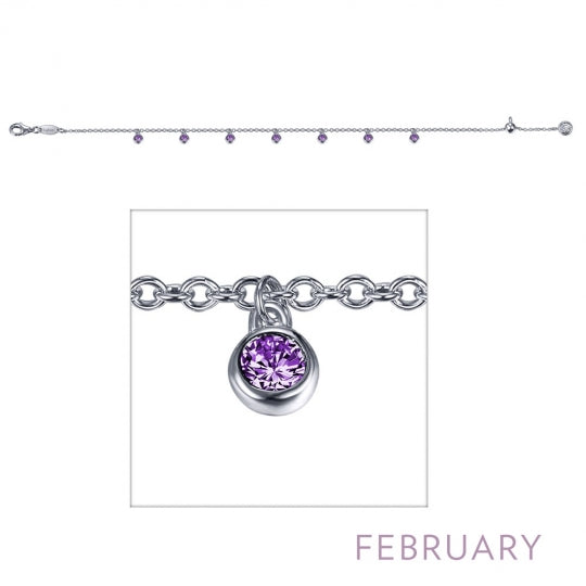 February Birthstone Bracelet