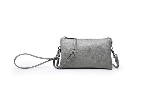 Riley Crossbody/Wristlet in Gunmetal